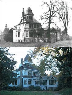 Then & Now .... 1894 Queen Anne Victorian house & gardens ... Historic Deepwood Estate, Salem, Oregon