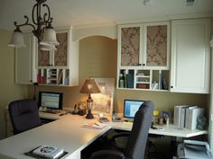 Central Indiana Custom Home Office Cabinets. Serving Carmel, Fishers, Westfield, Noblesville, and the Indianapolis Metro. Craft Room Office, Beautiful Room Ideas, Home Office Decor, Home Office Cabinets, Office Design, Home Decor, Home Office Space, Office Cabinets, Study Furniture Design