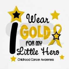I Wear Gold 12 Little Hero CHILD CANCER Tee on CafePress.com #ASICS #BeaGOLDCookie