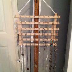 Necklace holder Necklace Storage, Necklace Holder, Jewelry Holder, Jewelry Insurance, Organization, Organizing, Storage Spaces, Crafty, Pearls