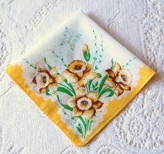 Check out this item in my Etsy shop https://www.etsy.com/listing/516929659/vintage-handkerchief-hanky-white-cotton