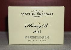 NIB  SCOTTISH FINE SOAPS ~ HONEY B ~ EXTRA LARGE SOAPS ~ 10.5 oz / 300 gm…