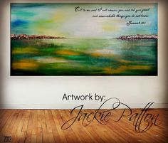 The Art Girl Jackie: Large Abstract Landscape Scripture Painting - Jeremiah 33:3