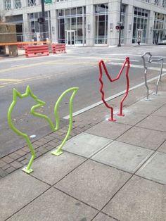 Street Animal Bike Racks #bikeracks #bikerack #bicycleracks