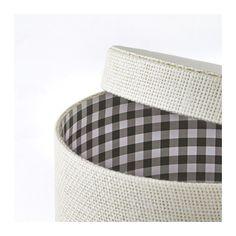KVARNVIK Box, set of 3, white white -