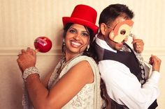 Black and Red Ohio Indian Wedding Reception