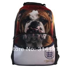 whosepet-2014 Brazil World Cup england Bulldog animal backpack children backpacks zoo Soccer backpack Player Version 32 teams $35.49