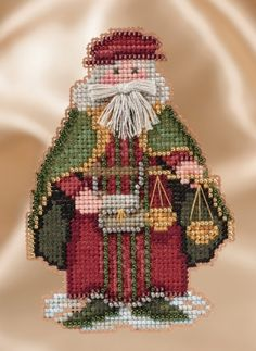 Boatswain Santa Beaded Ornament Kit Mill Hill 2010 Seafaring Santas