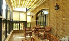 Classical relaxing European-style balcony drapery 2015