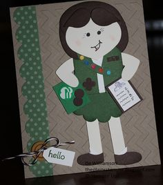 Girl Scout Punch Art by plains stamper - Cards and Paper Crafts at Splitcoaststampers