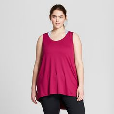 57f744e457693 Women s Plus-Size High Neck Long Tank Top - C9 Champion Grapevine Heather  4X C9