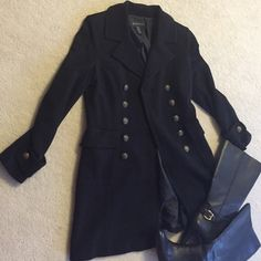 ⬇️PriceINC jacket INC jacket with beautiful detailed buttons.buttons on cuff & back of jacket.Fully lined.Outer shell 76% rayon,21% nylon & 3% spandex.size petite,petite.In very good condition.❌NO TRADES❌ INC International Concepts Jackets & Coats