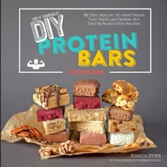 DIY Protein Bars Cookbook: Easy, Healthy, Homemade No-Bake Treats That Taste Like Dessert, But Just Happen To Be Packed With Protein! by Jessica Stier http://www.amazon.co.uk/dp/1500386715/ref=cm_sw_r_pi_dp_te0ywb12X1EJ2