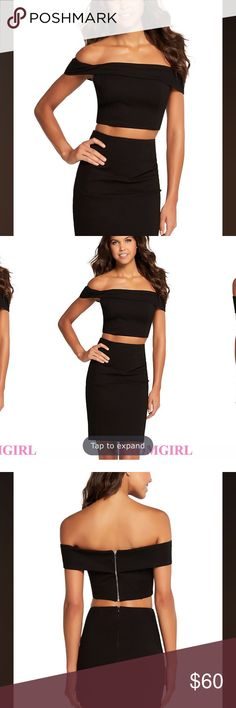 OTS two piece bodycon dress Brand new with tags! Never been worn. Bought from promgirl.com Dresses
