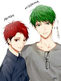 OMG THEY DON'T LOOK TOTALLY ACCURATE BUT I STILL LOVE THIS SO MUCH! | Akashi and Midorima without his glasses | KnB