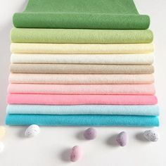This is Sweet Spring our latest collection of wool felt sheets. PS I ate the photo props (sorry not sorry) . Felt Crafts, Easter Crafts, Cloud Craft, Waldorf Crafts, Felt Sheets, Embroidery Supplies, Spring Colors, Photo Props, Wool Felt