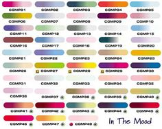 "China Glaze ""In the Mood Collection Chart"