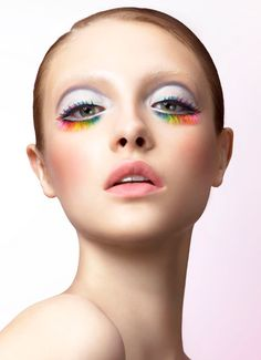 Shu Uemura lashes, pastel, cosmetics, pale, face, beauty, fashion, vogue, photography, model