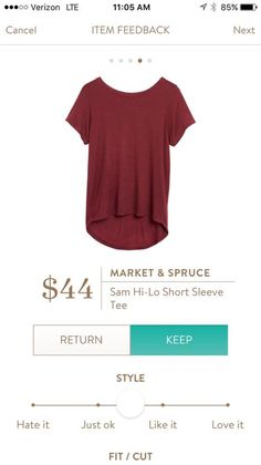 Love basic tees like this. I already have this in gray,but I really like this…
