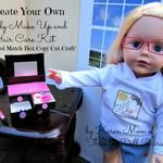 Create Your Own Dolly Makeup and Hair Care Kit. An Altered Match Box Copy Cat Craft