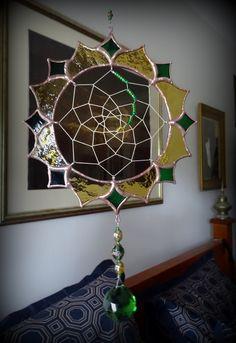 Dreamcatcher Stained Glass Suncatcher KELLKRAFT.com.au
