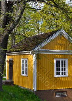 - Finland Yellow House Exterior, House Exterior Color Schemes, Cottage Exterior, House Paint Exterior, Dream House Exterior, Exterior Design, She Shed Decorating Ideas, Outside House Colors, Shed Makeover