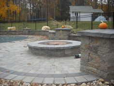 Paver Patio With Fire Pit Plan Best Pavers For Fire Pit How To Build A Fire Pit On Top Of Pavers Fire Pit Pavers Home Depot