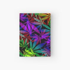 "rainbow color ganja, marihujana leafs pattern, weed LGBT"" Hardcover Journal by cool-shirts"