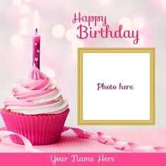 Birthday Wishes With Photo, Beautiful Birthday Wishes, Happy Birthday Wishes Cake, Birthday Photo Frame, Happy Birthday Frame, Happy Birthday Cake Images, Happy Birthday Friend Cake, Happy Birthday Little Brother, Happy Birthday Wishes For A Friend