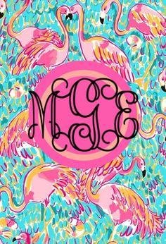 """My monogram phone wallpaper"" by dreamsinfairytales ❤ liked on Polyvore"