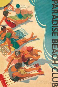 Paradise Beach Club Julisteet tekijänä Hugo Wild AllPosters.fi-sivustossa