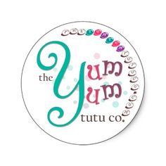 the yum yum tutu co sticker