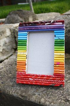 Repurposed Magazine Picture Frame