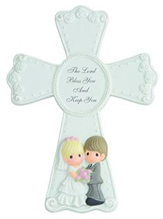 Precious Moments Wedding Cross Figurine