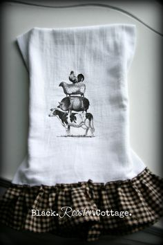 On The Farm Tea Towel by BlackRoosterCottage 16.00 on Etsy