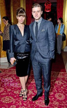 Jessica Biel and Justin Timberlake attended the Tom Ford Fall 2013 show.