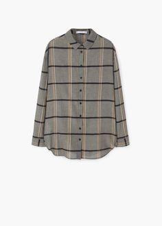 Check cotton shirt | MANGO