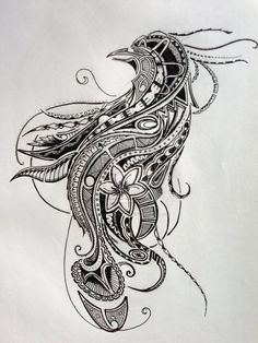 I <3 this!! Polynesian Tattoo - Bird Of Paradise (Design II) by ~Jay-emm-aye on deviantART