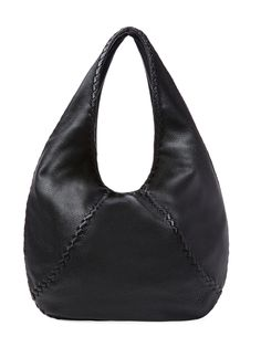 Woven Trim Large Leather Hobo from Designer Handbag Shop: Perfect Carryalls on Gilt