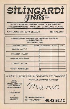 Calendrier 1985-1986 - 2ème Division - Page 28