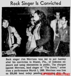 Image result for jim morrison exposing himself