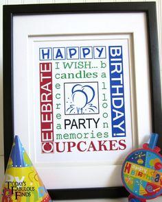 Birthday subway art printables