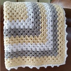 Crochet For Children: Granny Square Baby Blanket - Free Pattern                                                                                                                                                      More