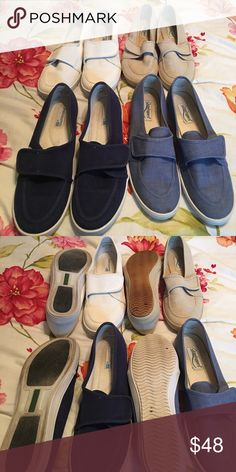 GRASSHOPPERS 4 pairs, all pre loved. Size 8 1/2. The lightest blue show the most sole wear which isnt much. Will split up if anyone wants! Keds Shoes Sneakers