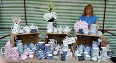 Willow Bell, Staffordshire Fine Bone China Tea Sets, Tea Pots, Cup and Saucer, Suger Bowl, Milk Jug, Mug plus Large and Medium size Water Jugs/ Vases at Latchford Village Market