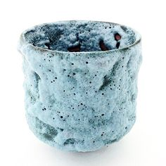 Haggerty Ceramics | Teal Blue Crater Glaze Bowl | An earthenware miniature bowl with a copper and cobalt crater glaze, fired in reduction | Exquisitely Crafted Art Pottery  By James & Linda Haggerty #CAPCA