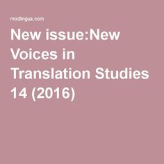New issue:New Voices in Translation Studies 14 Criminal Justice System, News India, Case Study, The Voice