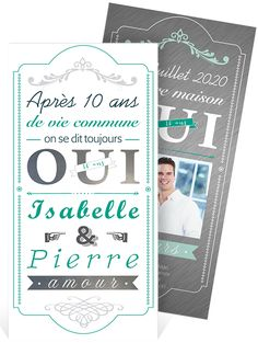 1000 images about invitation anniversaire de mariage on pinterest mariage invitations and. Black Bedroom Furniture Sets. Home Design Ideas