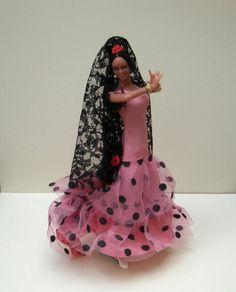 Vintage Spanish Doll Flamenco Dancer Pink and door spanishangels, $22,00