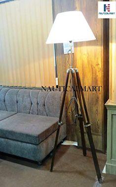 Designer Premium Quality Wooden Tripod Lamp Lighting Stand Floor Lamp Home Decor Lamp Light, Tripod Floor Lamps, Tripod Lamp, Floor Lamp, Lamp, Lighting, Steel Furniture, Home Decor, Wooden
